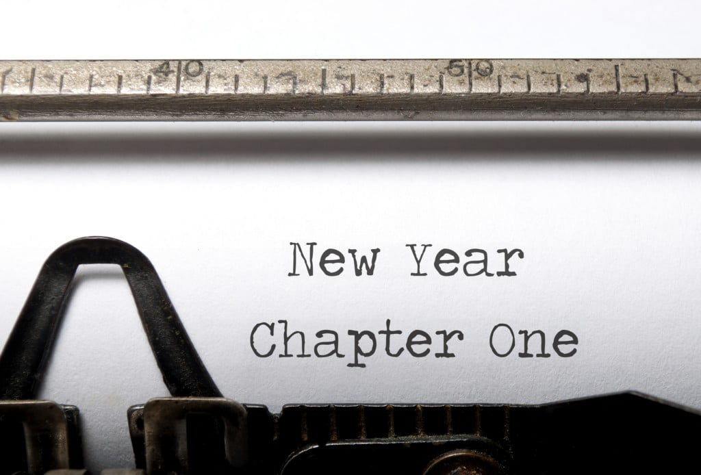 new year, chapter one typewriter