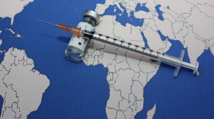 pneumococcal vaccine: vaccine across map of Africa
