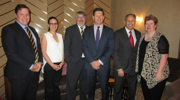 Health minister Springborg with Guild members