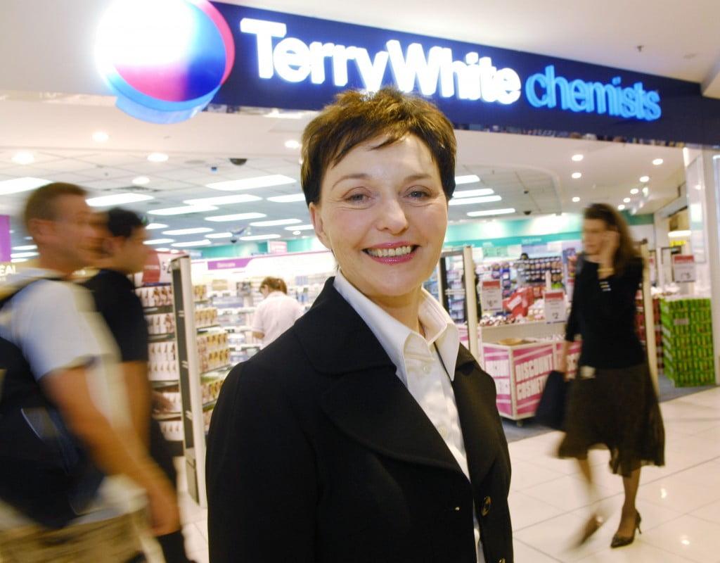 Rhonda White outside Terry White Chemists shop