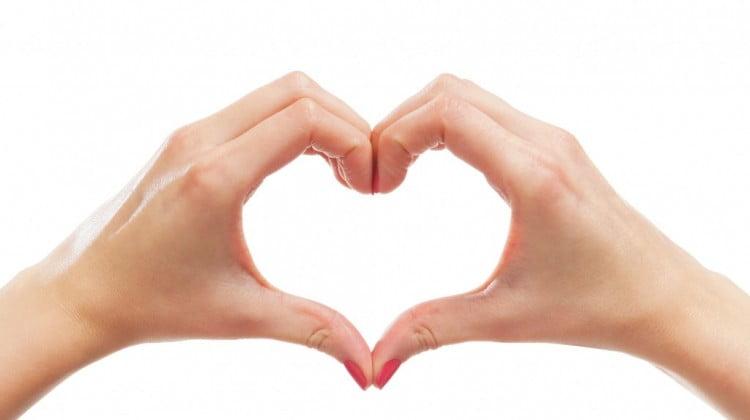 hands form heart