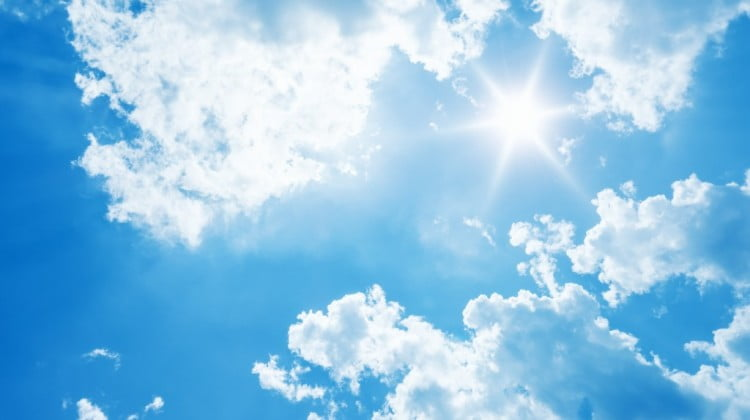 hot sun at midday: sunburn