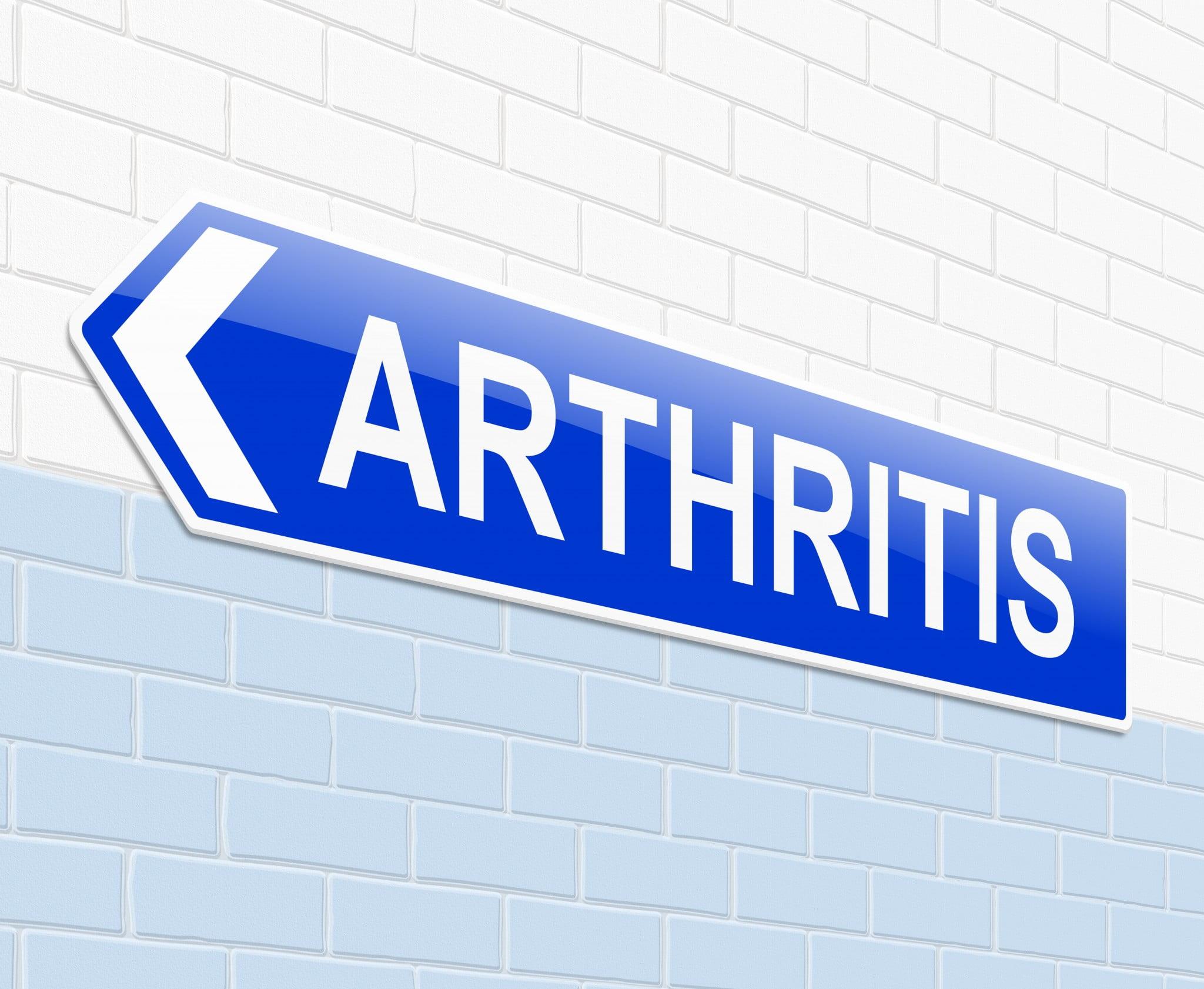 "sign says ""arthritis"""