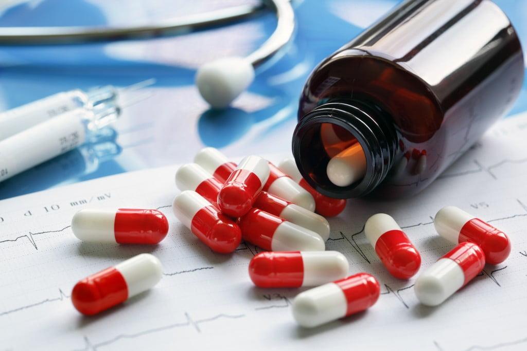 Medicines, bottle, printout, stethoscope: NPS MedicineWise QUM concept