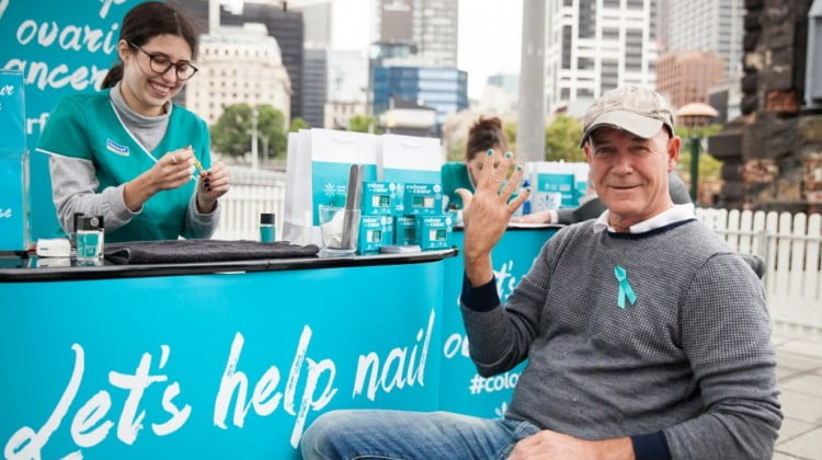 Gary Sweet gets a teal Chemmart MANicure