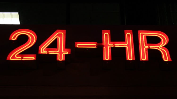 24 hour pharmacy neon sign