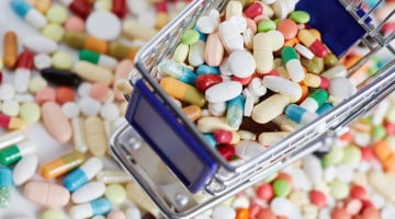 pharmacy deregulation: shopping trolley full of pills