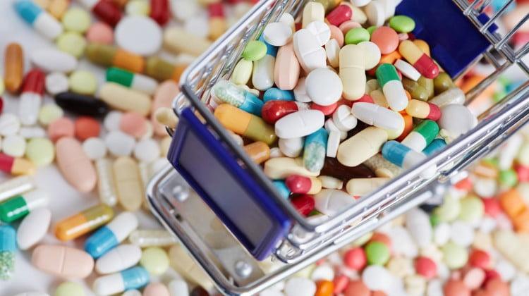 pharmacy deregulation: shopping trolley full of pills