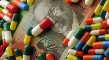pills on $20 note