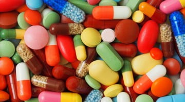 lots of colourful different medicines