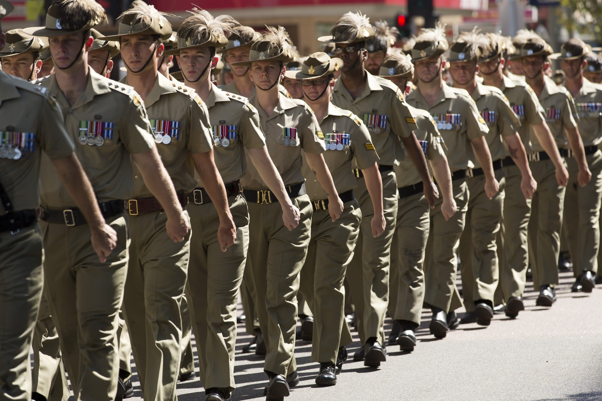 Veterans health: young diggers march in Darwin parade. Image courtesy Defence.