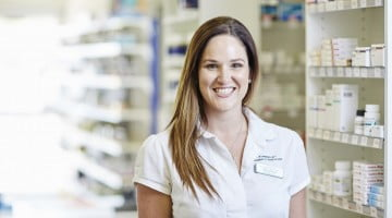 Hannah Mann in her pharmacy's dispensary