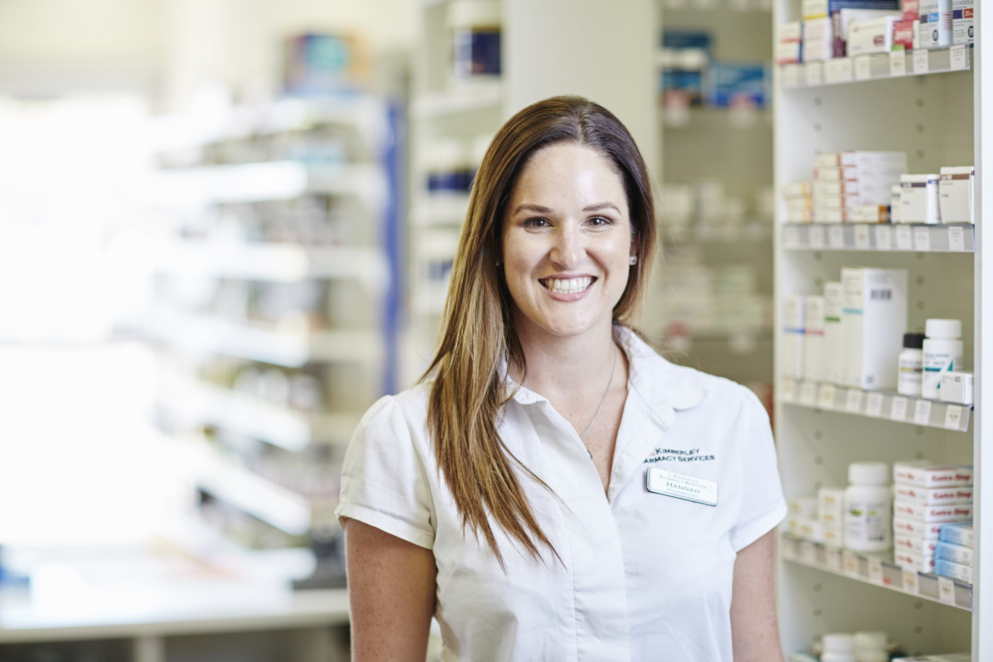 Hannah Mann in her pharmacy's dispensary