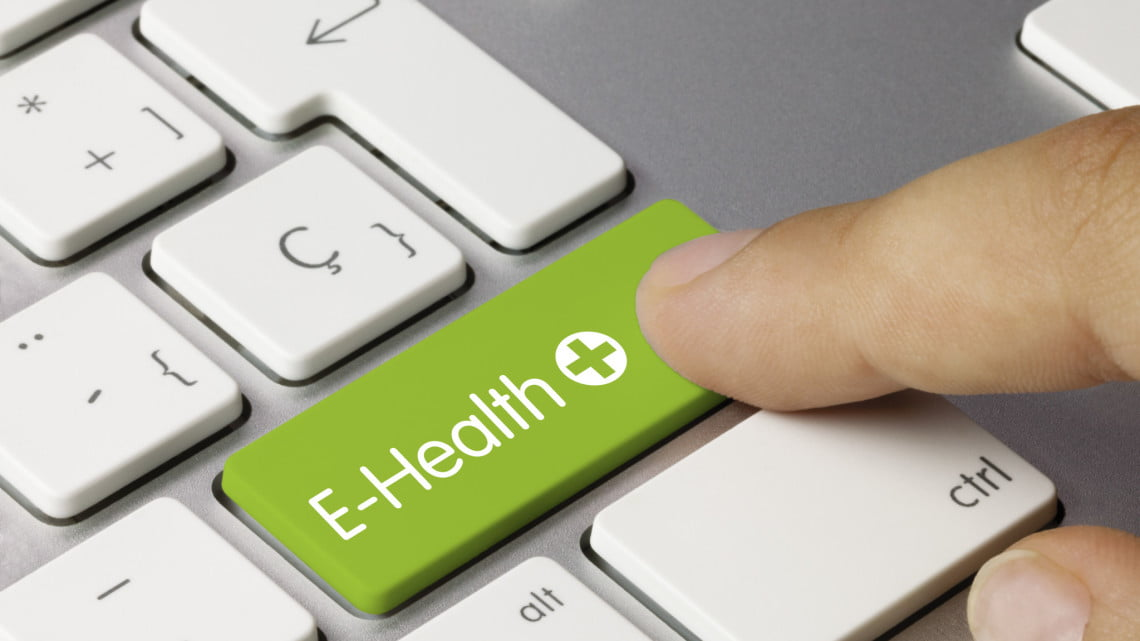 "button on keyboard says ""e-health"""