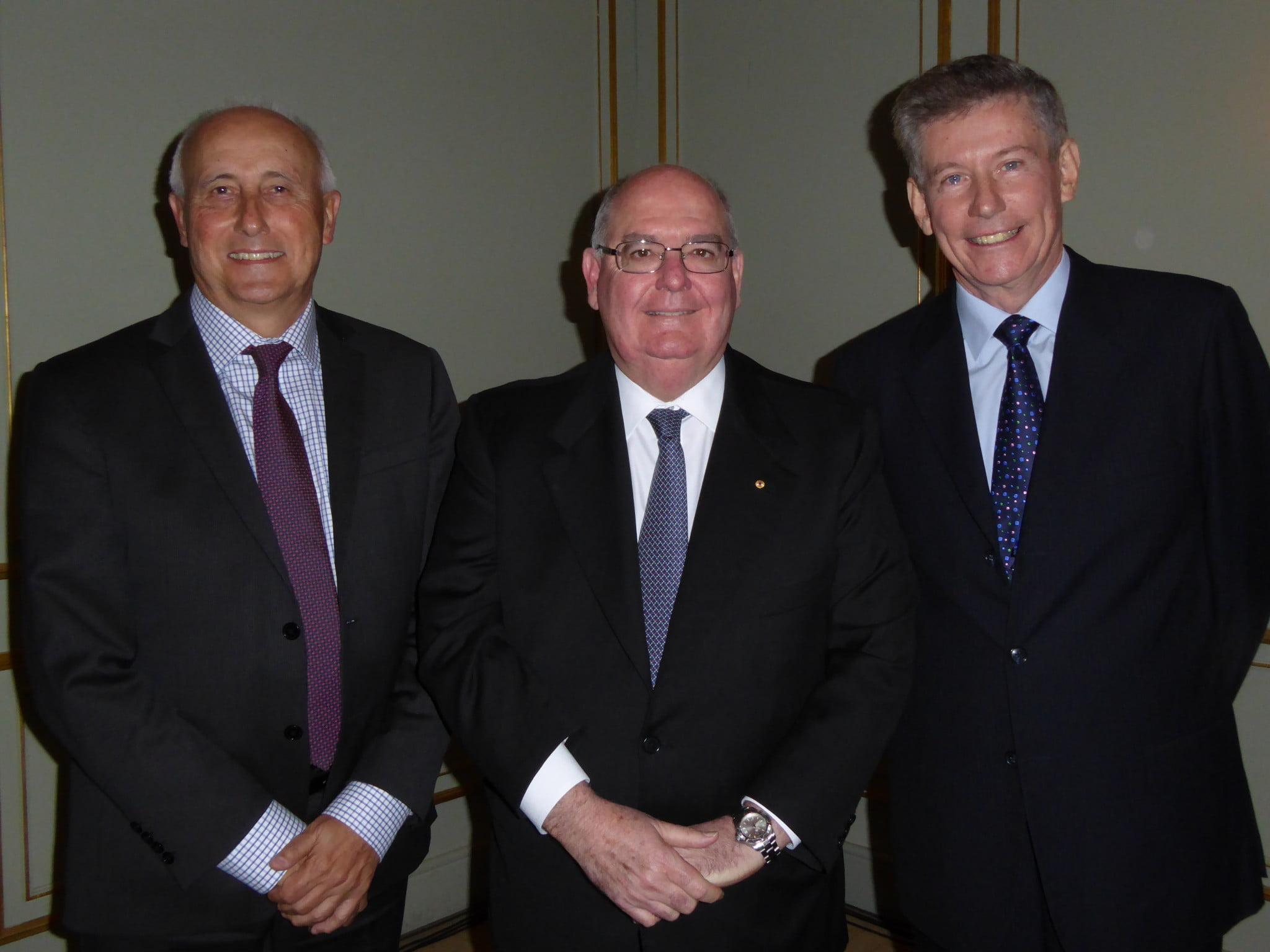 Grant Kardachi (left). Warwick Plunkett (right) David Ritchie (centre)