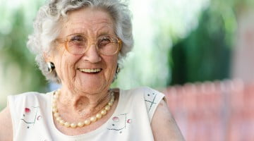 mental illness: older woman laughing