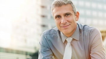 prostate cancer: mature man looking vaguely pleased