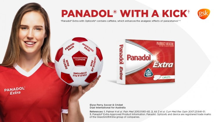 Panadol banner featuring Elyse Perry