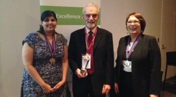 PSA Awards for Excellence 2014 winners, Taren Gill, Louis Roller, Lindy Swain