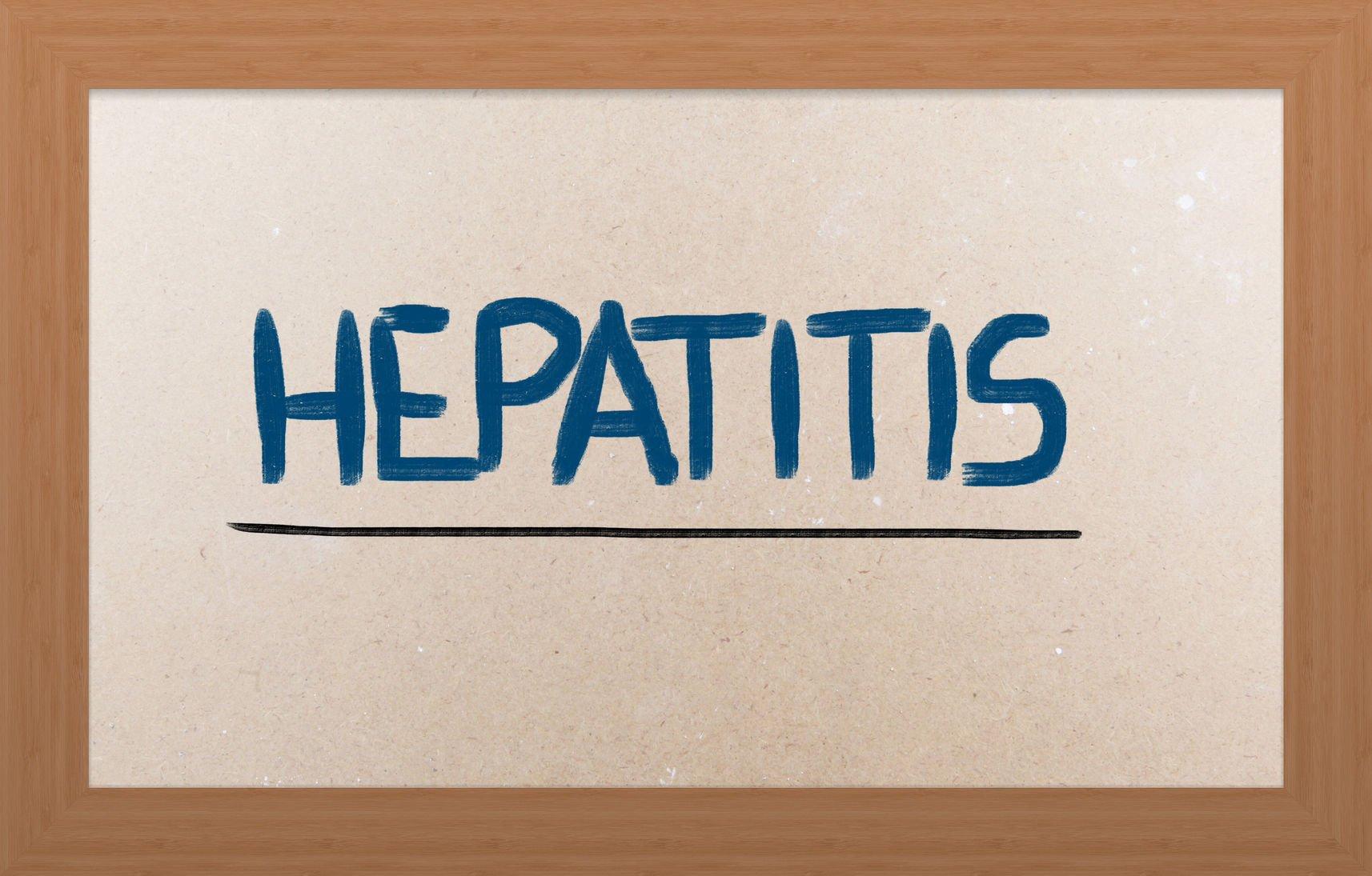 """""""hepatitis"""" written on board: viral hepatitis"""