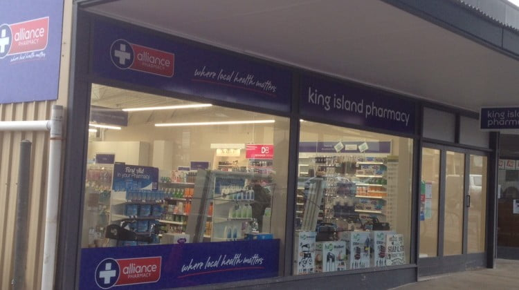 King Island Pharmacy new shopfront