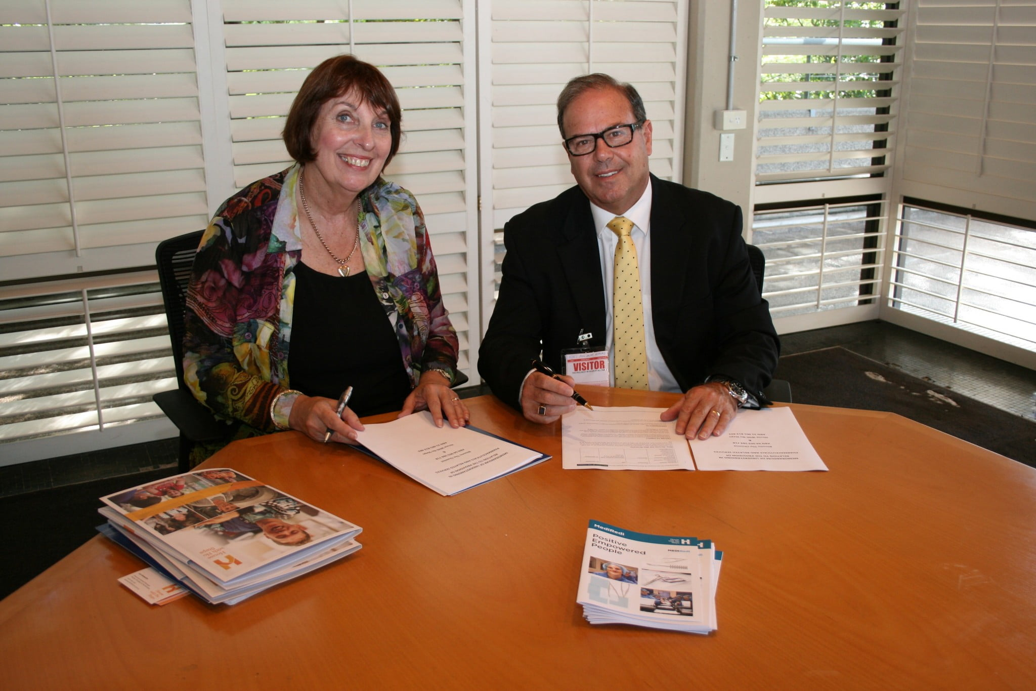 Lyn Ainsworth Head of Strategy People Practice with Phil Smith Blooms The Chemist CEO