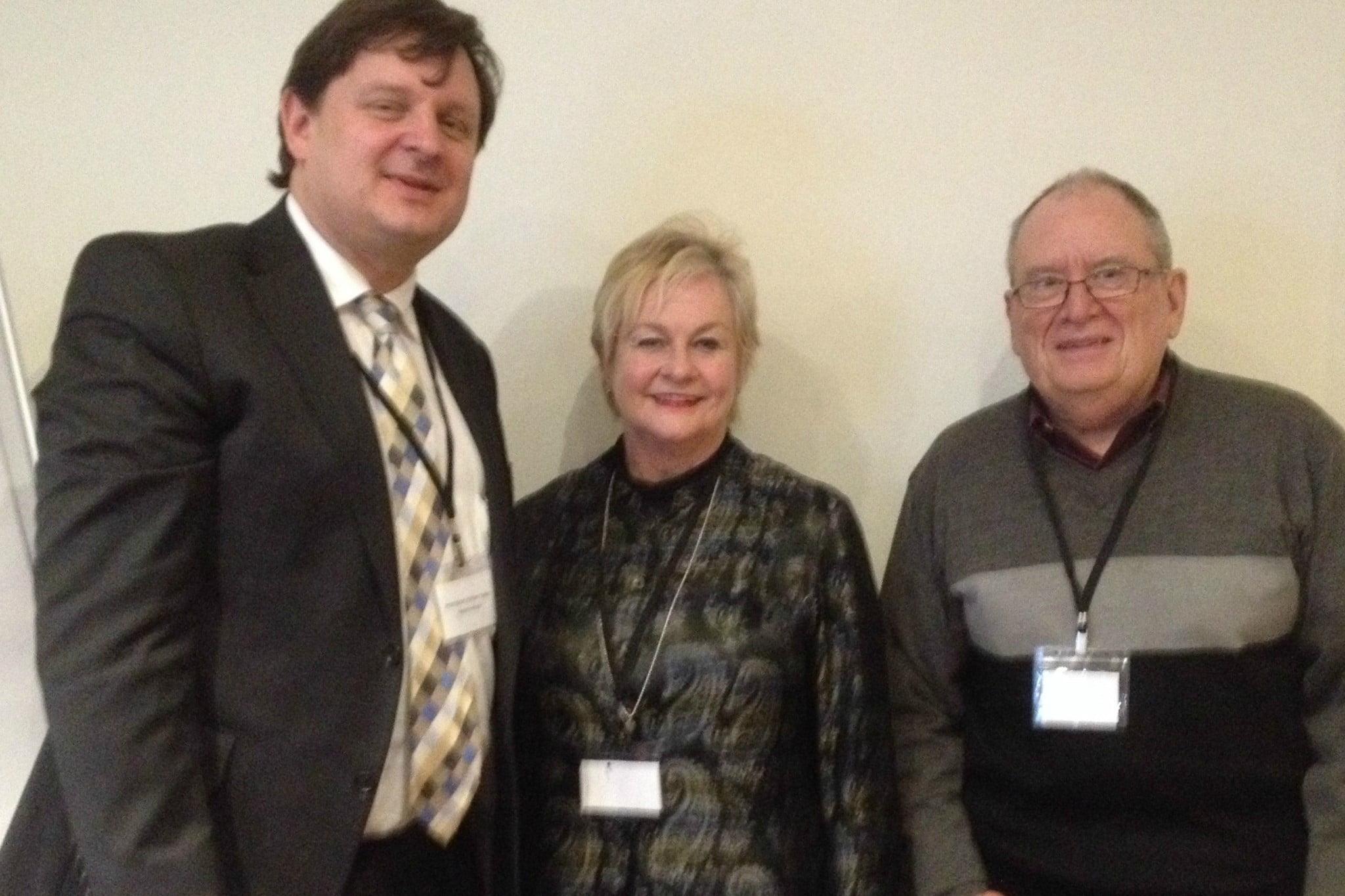 Pictured: Professor Stephen Twigg, Associate Professor Margaret McGill, Professor Ian Spence
