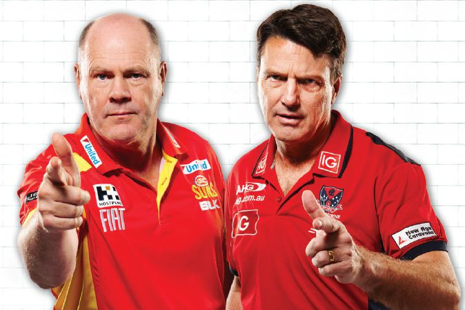 Peeball: two AFL coaches