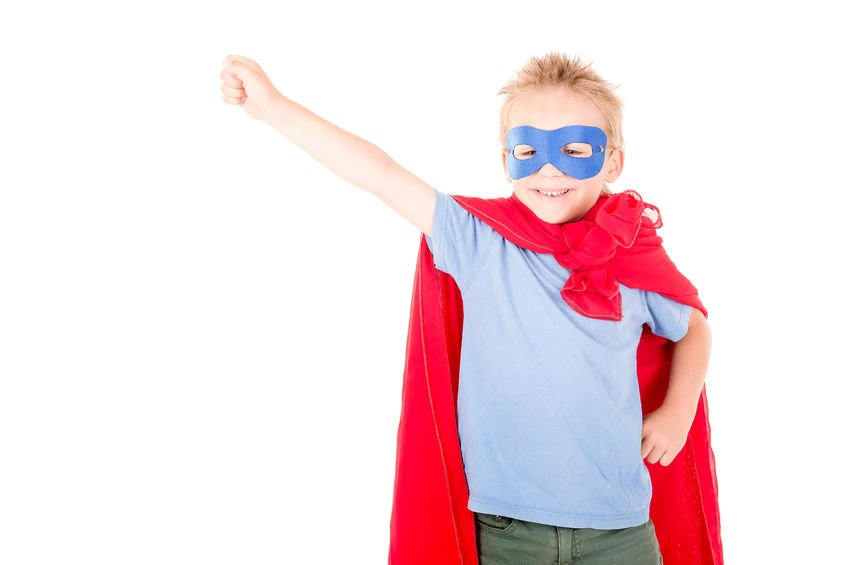 superhero week, kid dressed as superhero