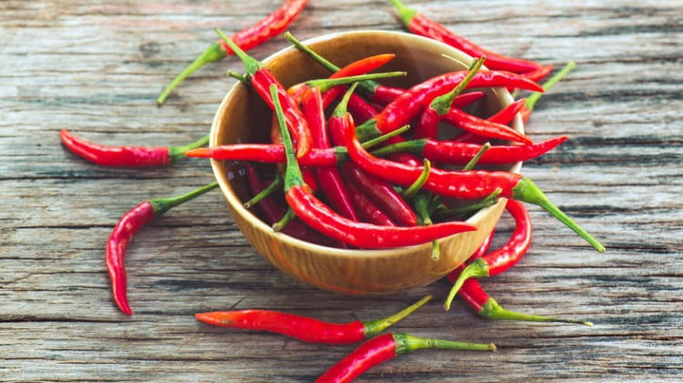 high-fat diet: hot chilli peppers