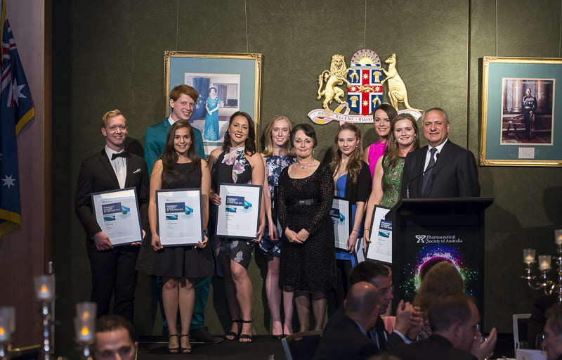 The PSOTY finalists with NSW Minister for Mental Health, Pru Goward, and PSA National President Joe Demarte, Shanae Hancey third from left