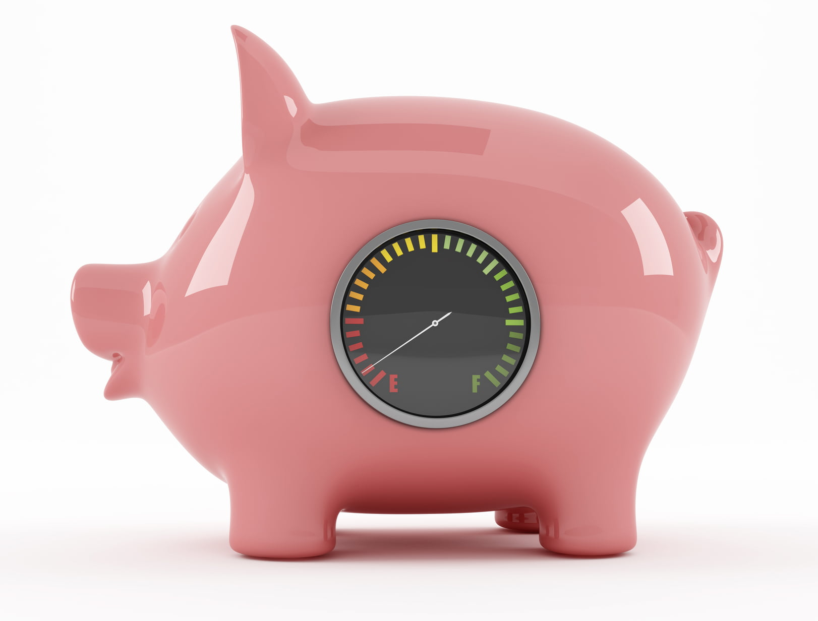 piggy bank: penalty rates concept