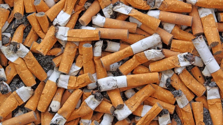 cigarette butts: QUIT4October
