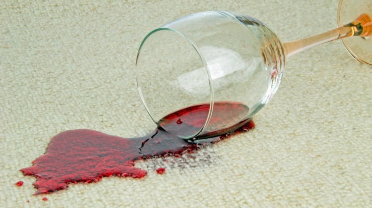 alcohol promotion: spilled wineglass