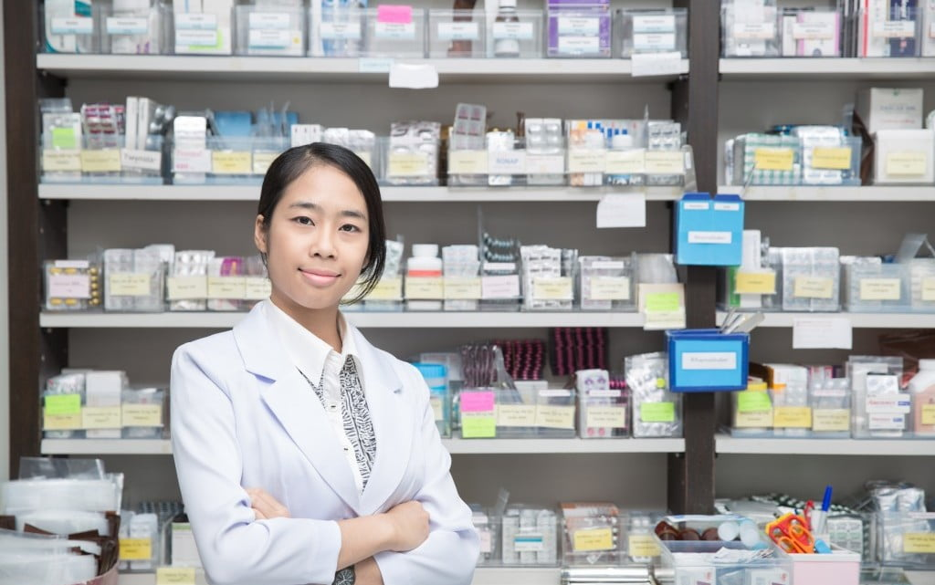 happy pharmacist