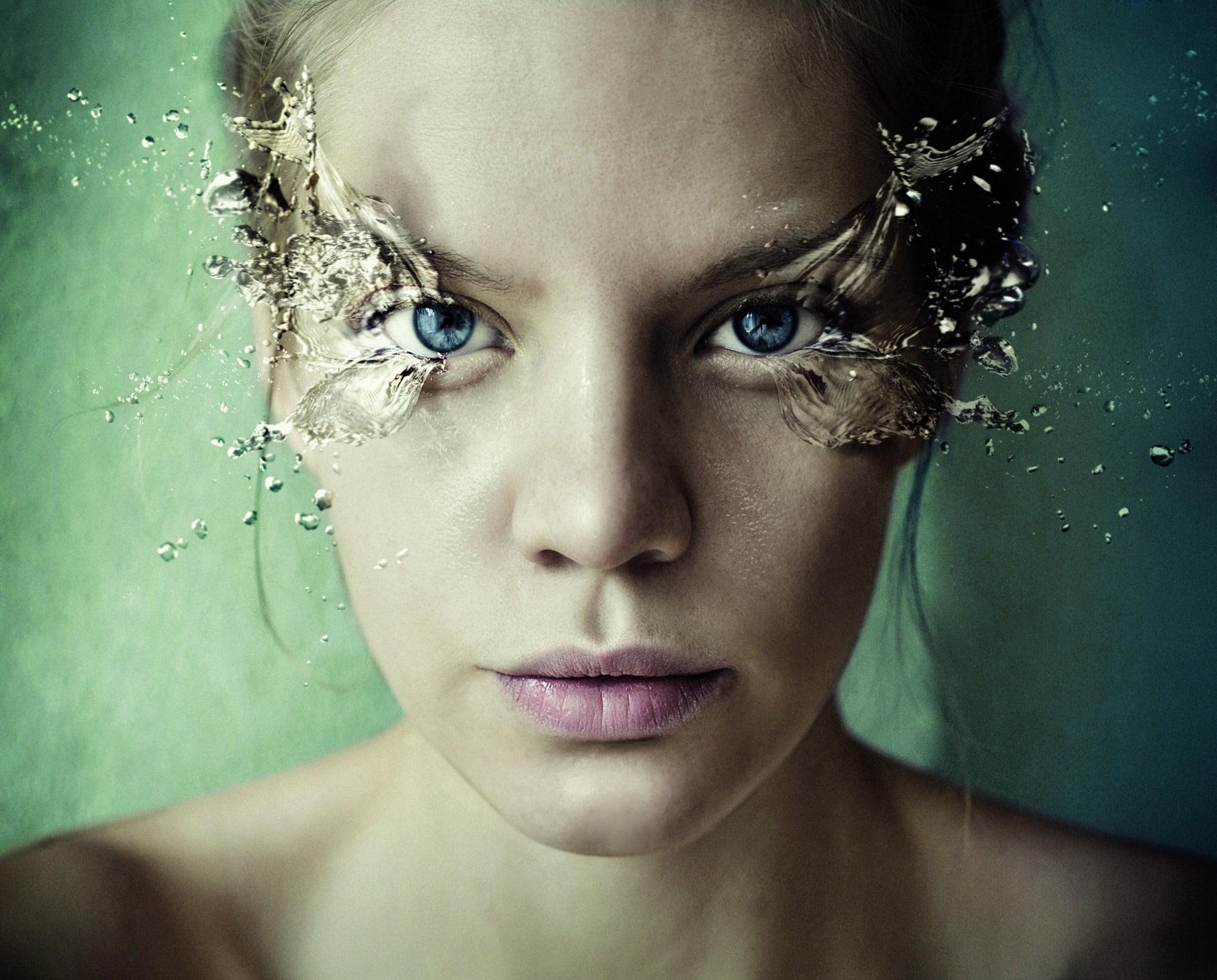 AFT pharmaceuticals eye care: woman with splash eyes