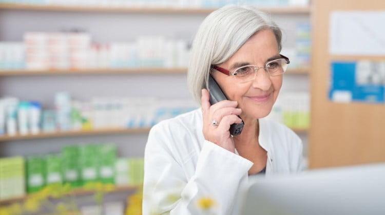 Pharmacist on the phone