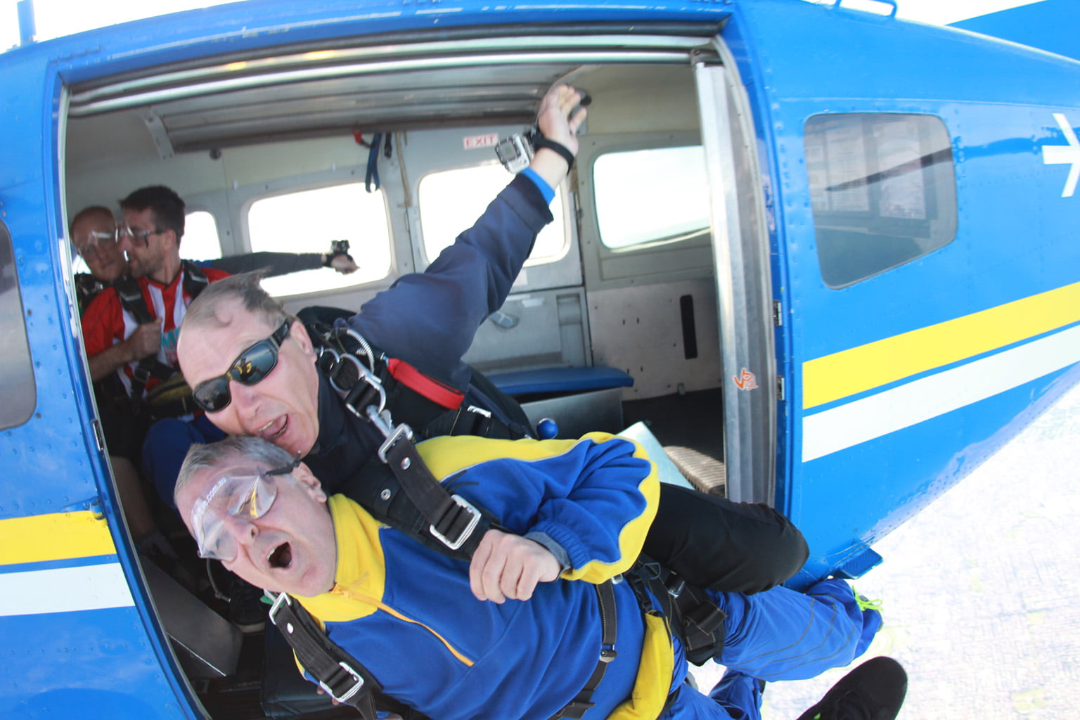 Walk4BrainCancer 2015, George Tambassis does skydive