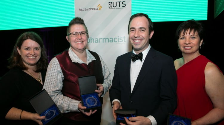 QPIP team winning the Innovative Pharmacist of the Year award
