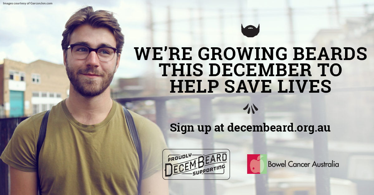 Decembeard collateral banner, shows man with beard