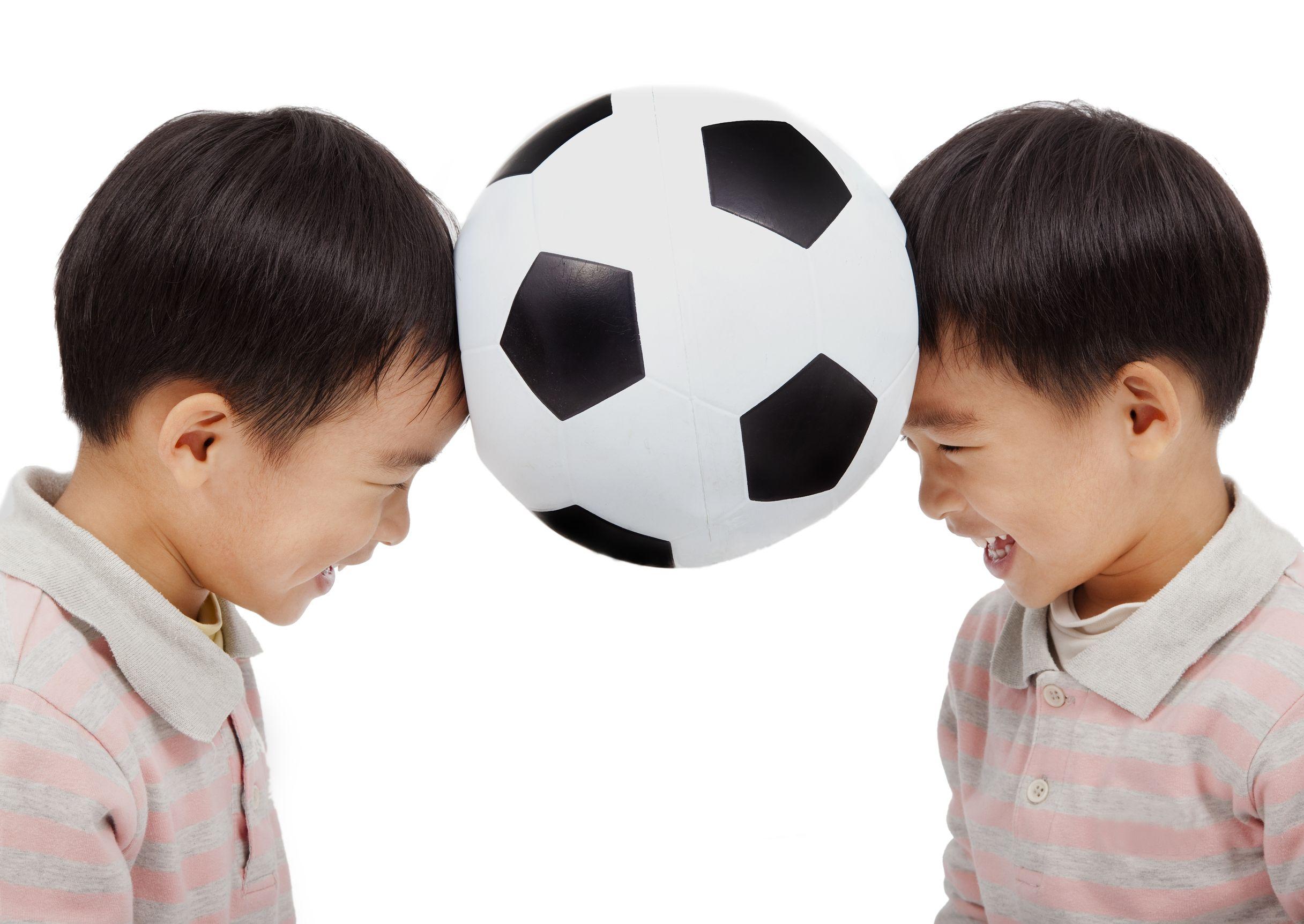 Boys with a soccer ball