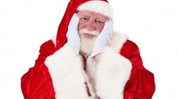 grumpy looking Santa