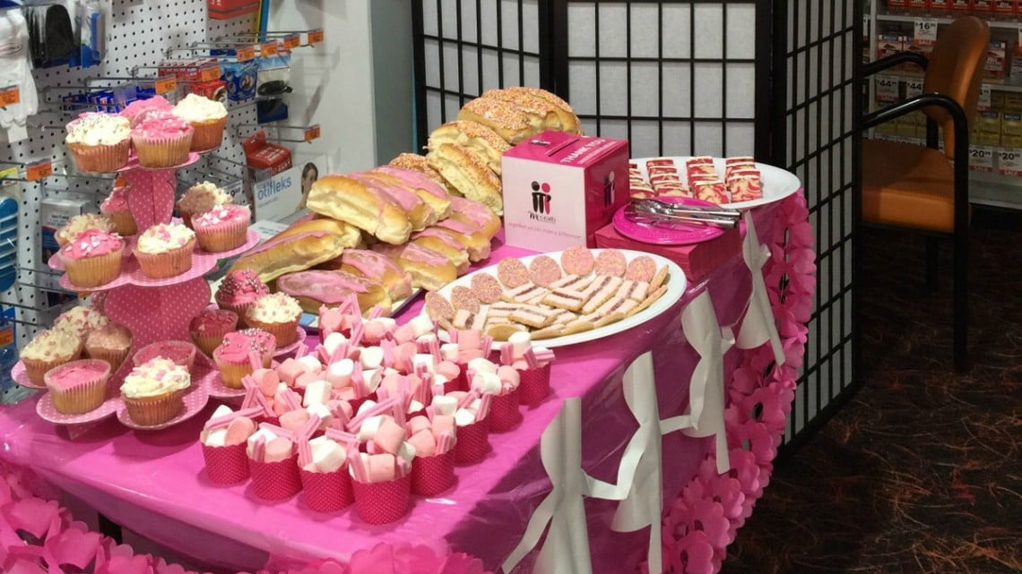 DDS pink charity table for McGrath Foundation