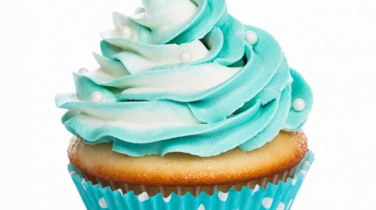 ovarian cancer teal cupcake