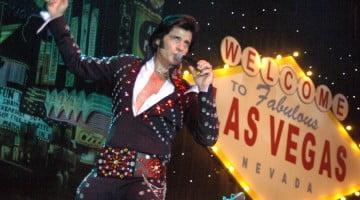 Dean Vegas impersonating Elvis