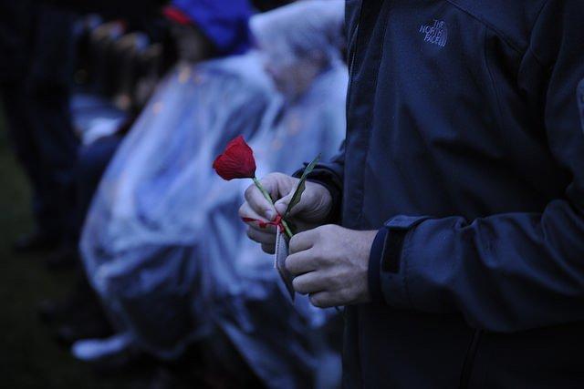 Anzac Day dawn service France 2015