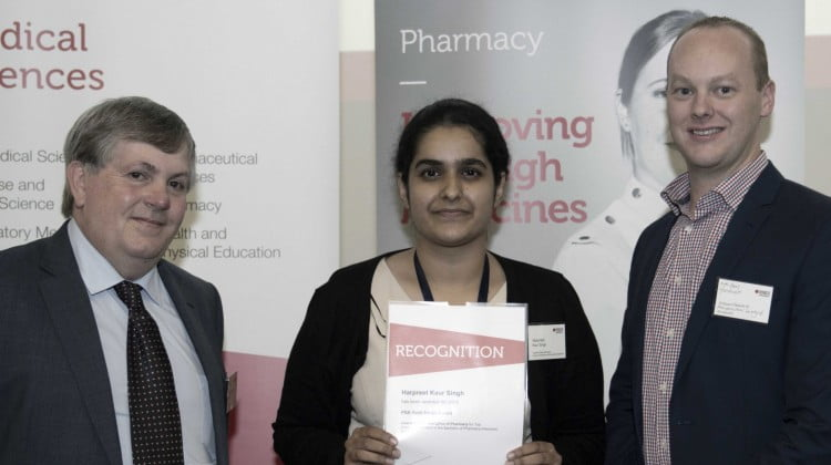 Harpreet Kaur Singh receives the award
