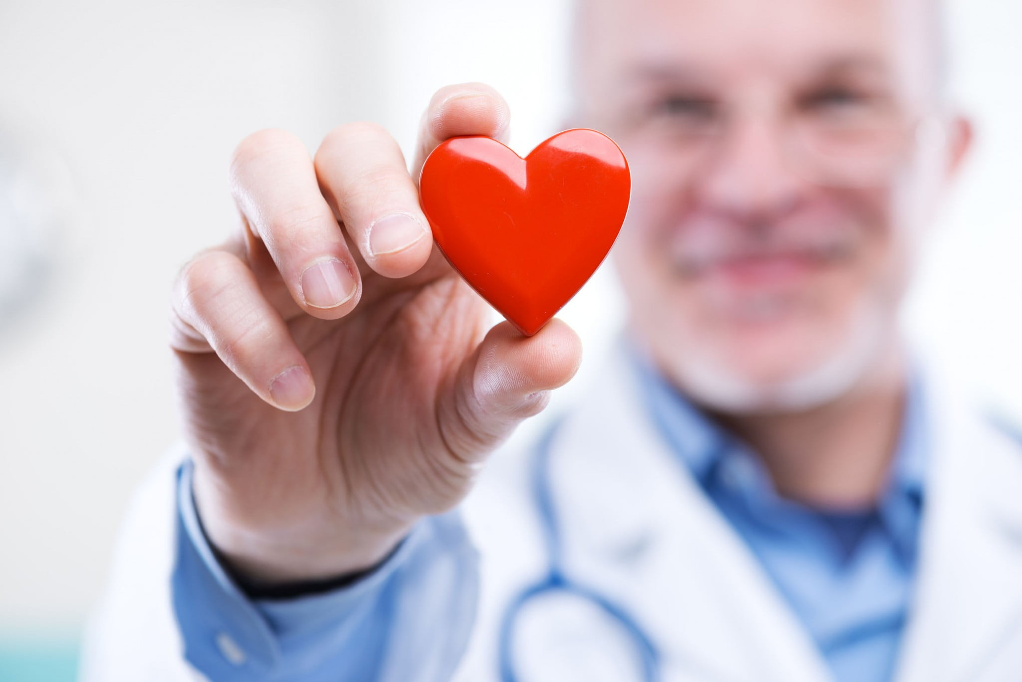 health professional with heart