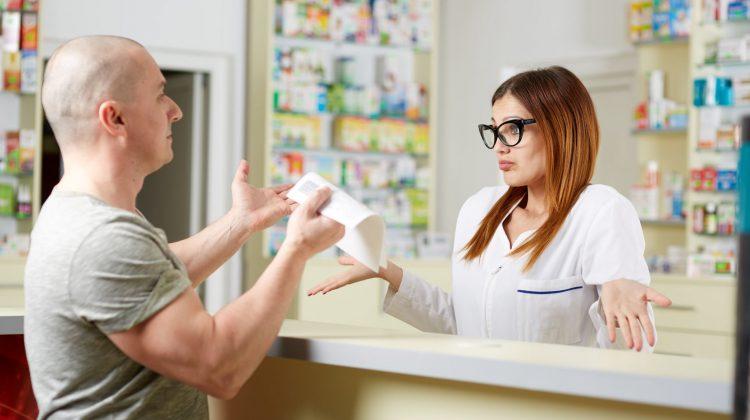 angry customer patient pharmacist pharmacy
