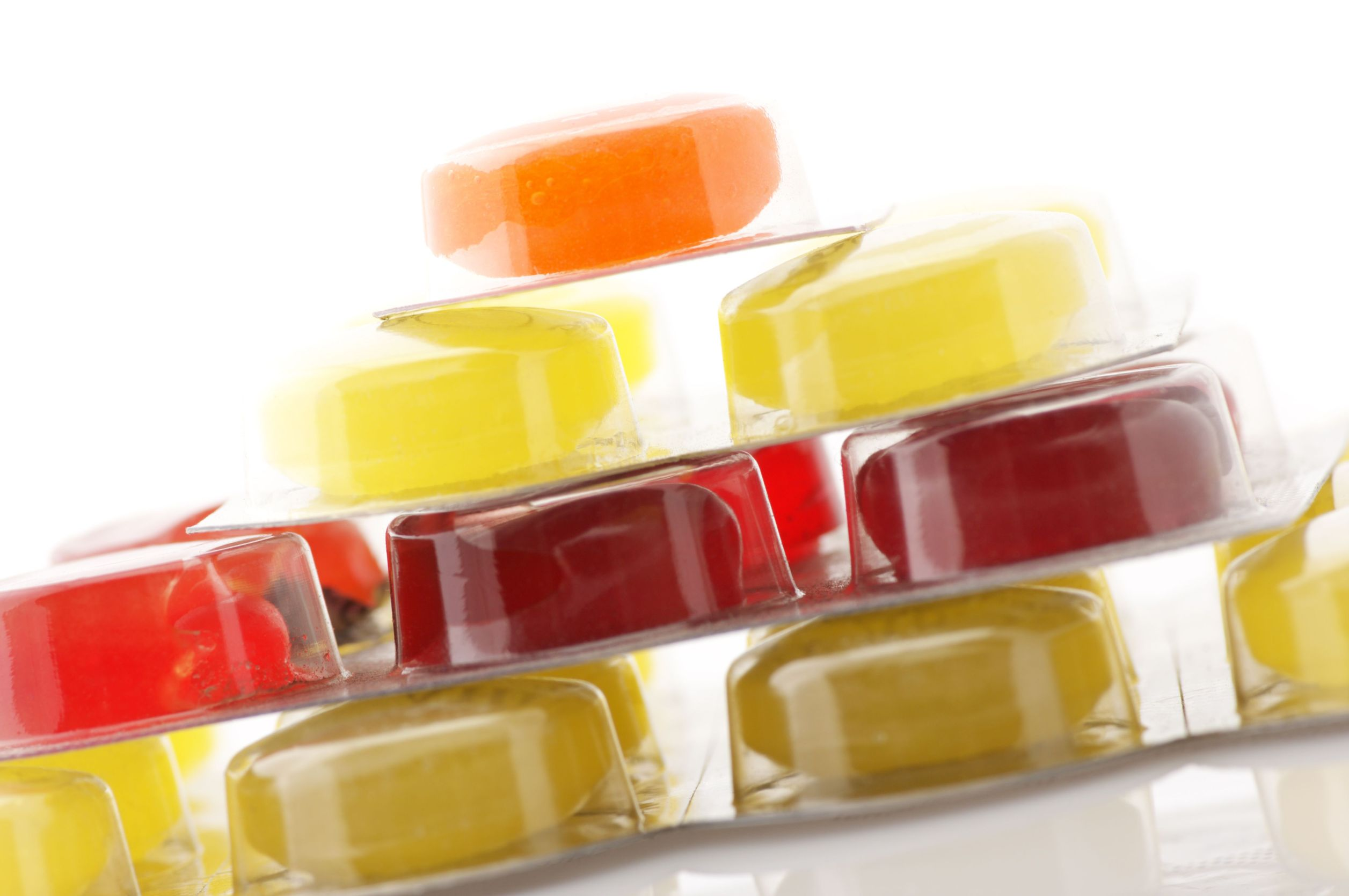 cough lozenges in a stack